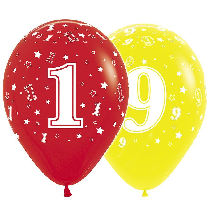 Латексные воздушные шары Цифры