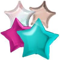 Фольгированные шары в форме звезды