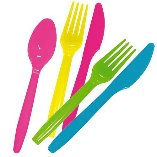 Одноразовые ножи, вилки, ложки для праздника