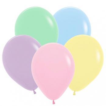 Купить латексные воздушные шары Ассорти, Пастель Матовый Макаронс