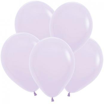 Воздушные шары Сиреневый Пастель Матовый Макаронс 100 шт