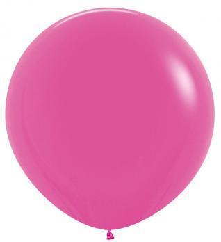 Воздушные шары Фуксия Пастель 1метр 1шт
