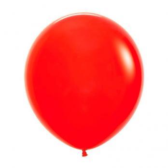 Воздушные шары Красный Пастель 1 шт