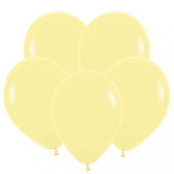 Воздушные шары Нежно-желтый Пастель 100 шт
