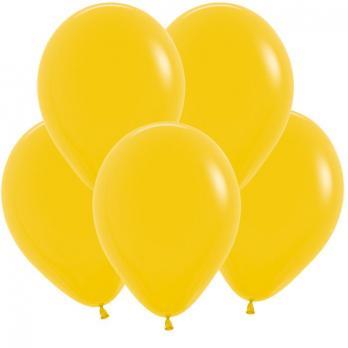 Воздушные шары Темно желтый Пастель 100 шт