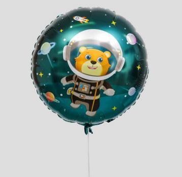 Фольгированный шар круг Космонавт