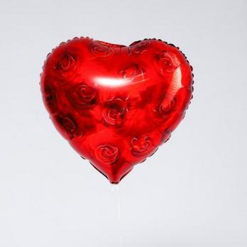 Фольгированный шар сердце Розы красные