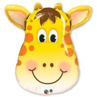 Фольгированный воздушный шар Жираф голова