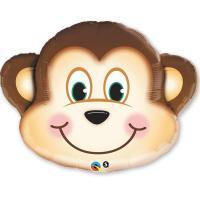 Фольгированный воздушный шар Мартышка голова