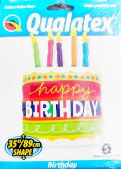 Фольгированный воздушный шар Торт со свечками