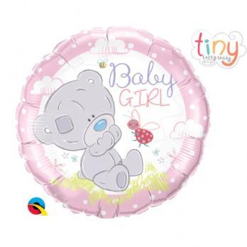 Фольгированный шар круг To You Tiny Малышка розовый
