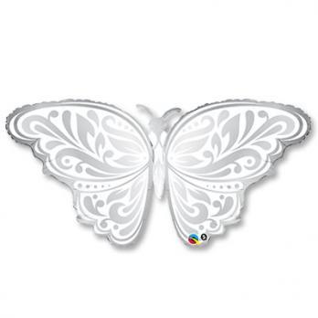 Фольгированный шар Бабочка серебро