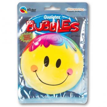 """Фольгированный шар BUBBLE 22"""" Улыбка яркая"""