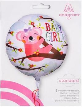 Шар фольгированный круг Baby Girl!