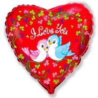 Фольгированный шар Птички Я тебя люблю