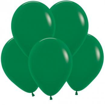 Воздушные шары Темно-зеленый Пастель 100 шт