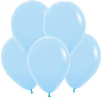 Воздушные шары Светло-голубой Пастель100 шт