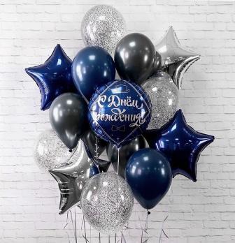 Воздушные шары Темно-синий Пастель 100 шт