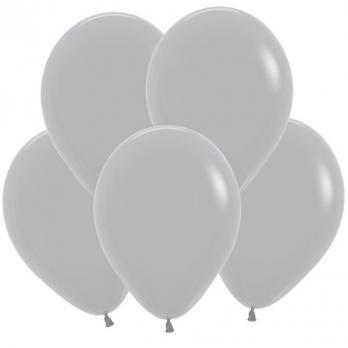 Воздушные шары Серый Пастель 100 шт