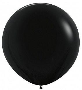 Воздушные шары Черный Пастель 1метр 1шт