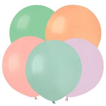 Воздушные шары Ассорти Макаронс Пастель 25шт