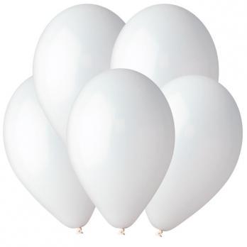 Воздушные шары Белый 01 Пастель 100шт