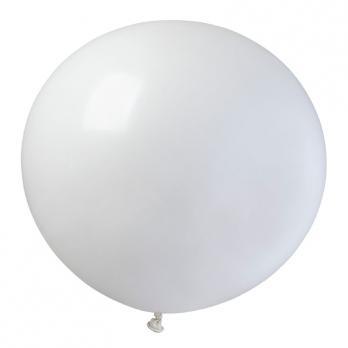 Воздушные шары Белый 01 Пастель 76см 10шт
