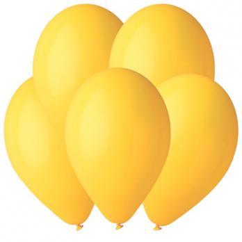 Воздушные шары Желтый 02 Пастель 100шт