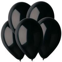 Воздушные шары Черный 14 Пастель100шт