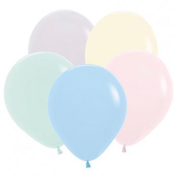 Воздушные шары Ассорти Макаронс Пастель 100шт